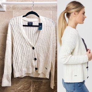 ✨New ABERCROMBIE & FITCH Crew Rib Knit Cardigan